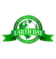 earth day icon isolated on white background vector image vector image