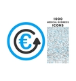 Euro Chargeback Rounded Icon with 1000 Bonus Icons vector image vector image