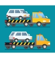 Evacuation car road assistance service help vector image