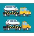 Evacuation car road assistance service help vector image vector image