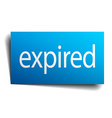 expired blue paper sign on white background vector image vector image