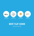 flat icon garment set of foot textile sneakers vector image