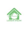 food home delivery logo design vector image