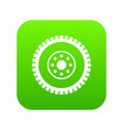 gear wheel icon digital green vector image