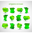 Geometrical Origami Template Set vector image vector image