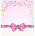 gift card and confetti vector image vector image
