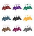 golf cart icon in black style isolated on white vector image vector image