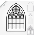 Gothic window vector image vector image