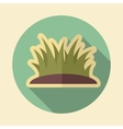 Grass retro flat icon with long shadow vector image vector image