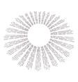 hand drawn vintage sunburst sun burst lines vector image