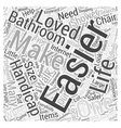 Handicapped accessories for the bathroom Word vector image vector image