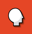 head silhouette mind concept image vector image