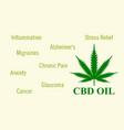 hemp oil cure vector image