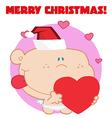 Holiday baby cartoon vector image vector image