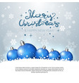holiday greeting card merry christmas poster with vector image vector image