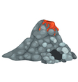 isolated volcano vector image vector image