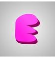 Letter E comic style font EPS10 vector image