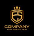 letter es initial logo luxury logo design vector image vector image