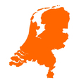 Map of the Netherlands vector image