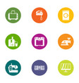 modern apartment icons set flat style vector image vector image