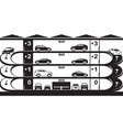 multi-level car parking vector image