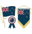 new zealand flags vector image vector image