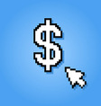 pixelated dollar sign vector image