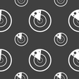 radar icon sign Seamless pattern on a gray vector image vector image