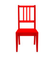 red stool isolated on white background vector image vector image
