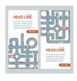 road banner card vector image vector image