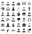 robbery icons set simple style vector image vector image
