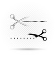 scissors line cut icon vector image vector image