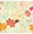 seamless pattern with autumn leaves in a retro vector image vector image