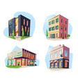 set isolated buildings for food drink bar vector image