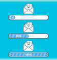 set of downloaders with email cartoon vector image vector image