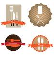 Set of Menu designs vector image vector image