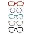 set of watercolor male glasses vector image vector image