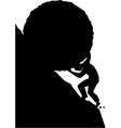 Sisyphus silhouette vector image vector image
