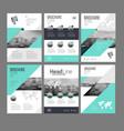 six trendy brochures templates vector image