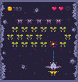 space arcade game level retro invaders pixel art vector image vector image
