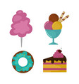 sweets food bakery dessert sugar confectionery vector image vector image