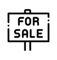 tablet for real estate sale thin line icon vector image