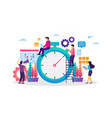 time and schedule management vector image vector image