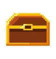 treasure chest pixelated icon vector image vector image