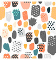 trendy scribbles seamless pattern in pastel colors vector image