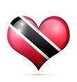 trinidad and tobago heart flag icon vector image