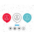 user line icon profile avatar sign vector image vector image