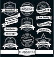 vintage labels and ribbons set vector image vector image
