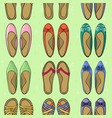 womens shoes footgear summer or spring seamless vector image
