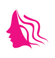 Profile of young woman vector image
